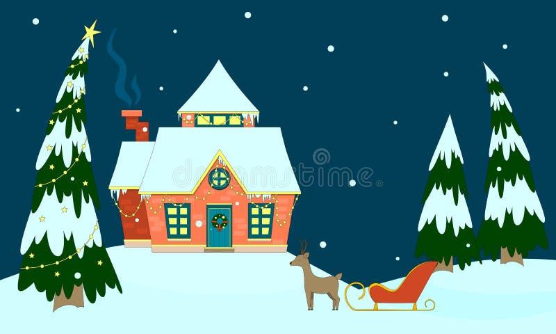 Дом Санта Клауса бесплатная иллюстрация