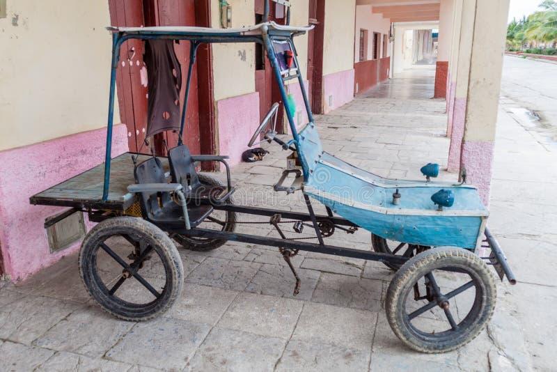 Дом сделал задействуя корабль увиденный в деревне Gibara, Cu стоковое изображение rf