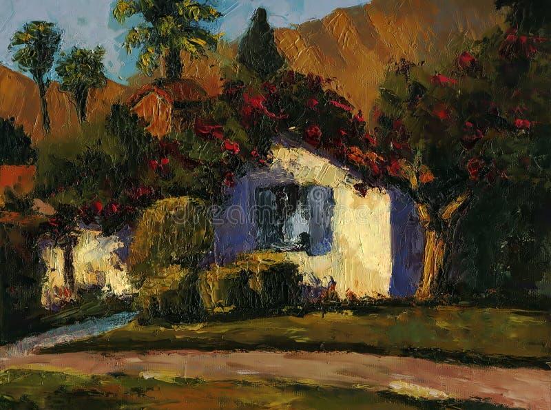 Дом села стоковая фотография rf