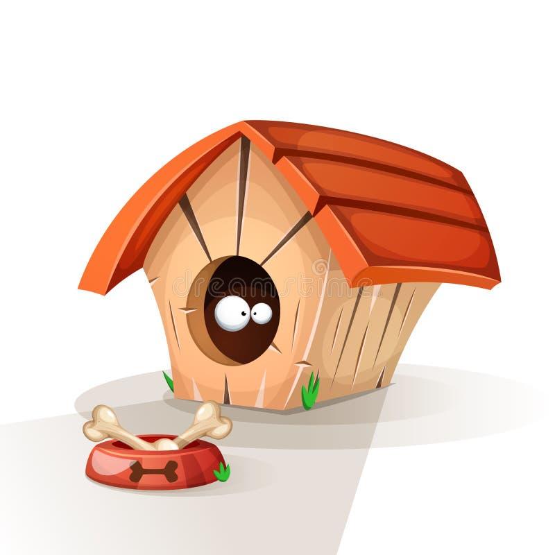 Дом собаки, животные ест иллюстрацию иллюстрация вектора