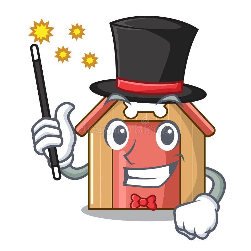 Дом собаки талисмана волшебника деревянного дома иллюстрация вектора
