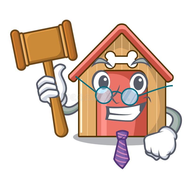 Дом собаки талисмана судьи деревянного дома иллюстрация вектора