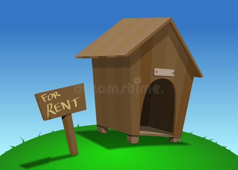 Дом собаки для ренты бесплатная иллюстрация