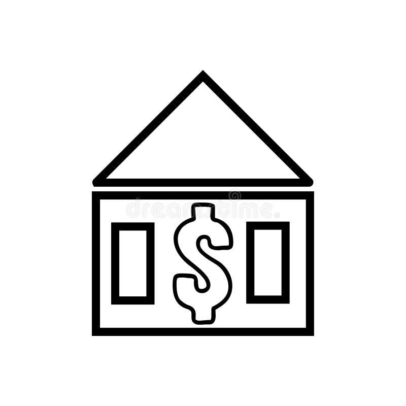 Дом со значком знака доллара иллюстрация штока