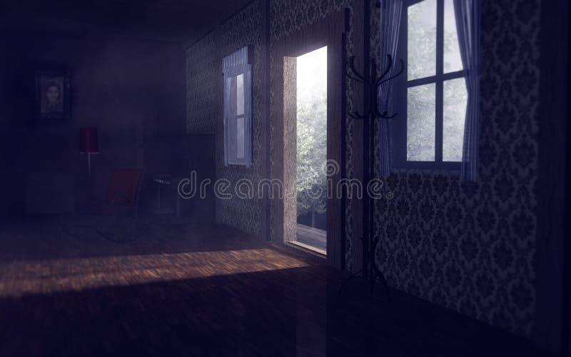 дом старая иллюстрация штока