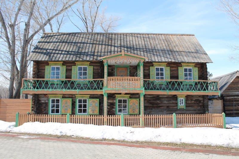 Дом с балконом стоковые изображения rf