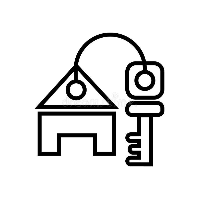 Дом с ключевым знаком иллюстрация вектора