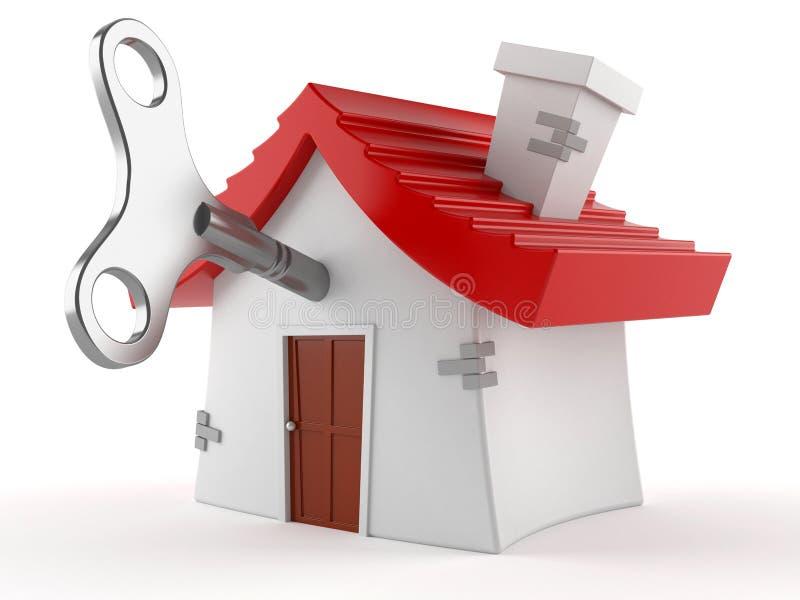 Дом с ключом clockwork иллюстрация вектора