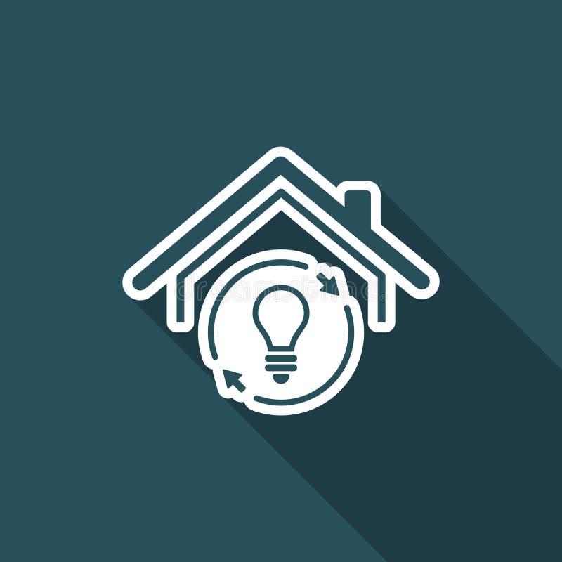 Дом с устойчивой энергией - Vector значок сети бесплатная иллюстрация