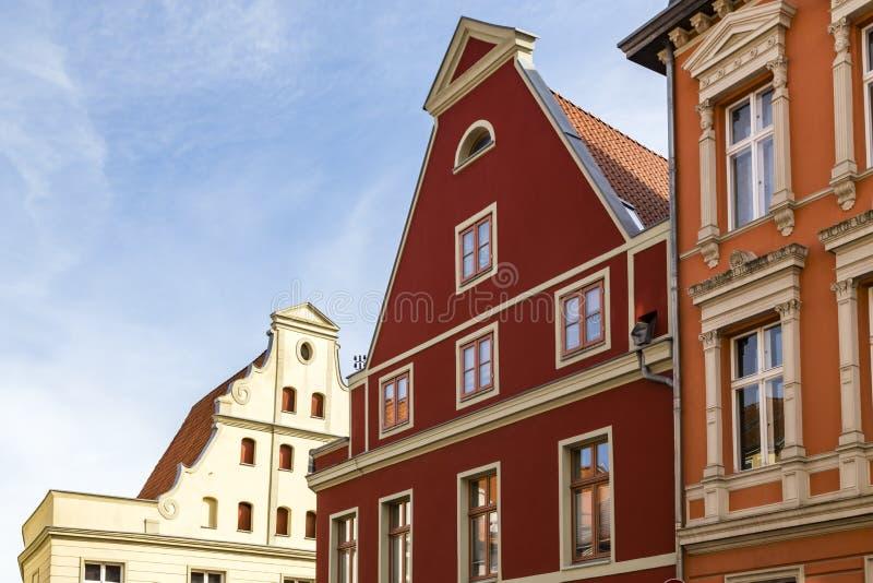 Дом с щипцом, Stralsund, Германией стоковое фото