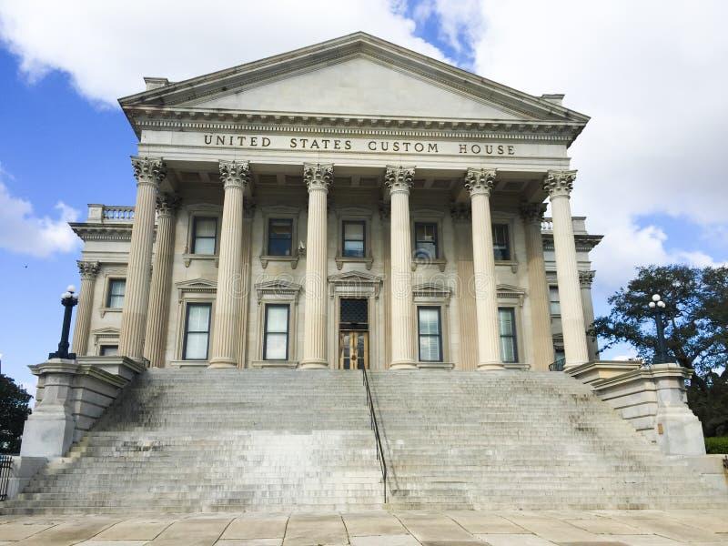 Дом таможен Соединенных Штатов, Чарлстон, SC стоковое фото