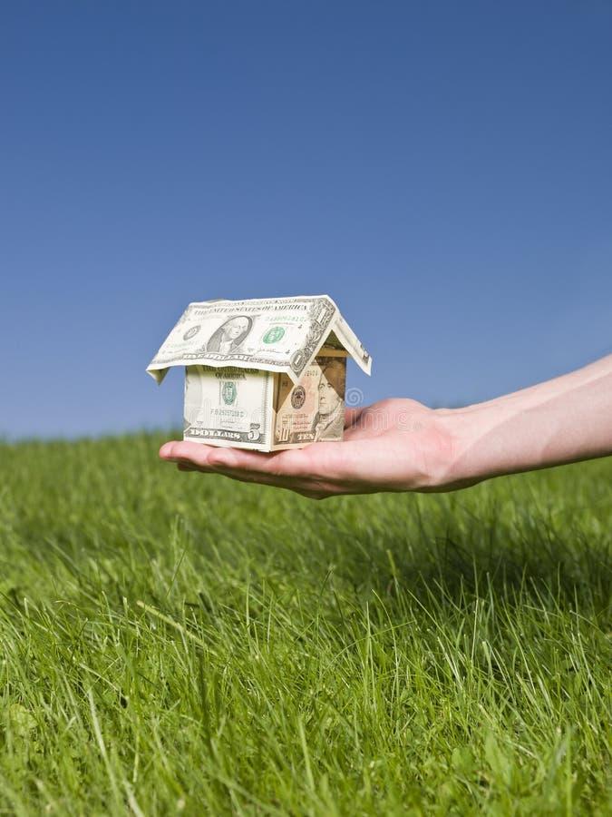 дом удержания в долларах стоковое изображение rf