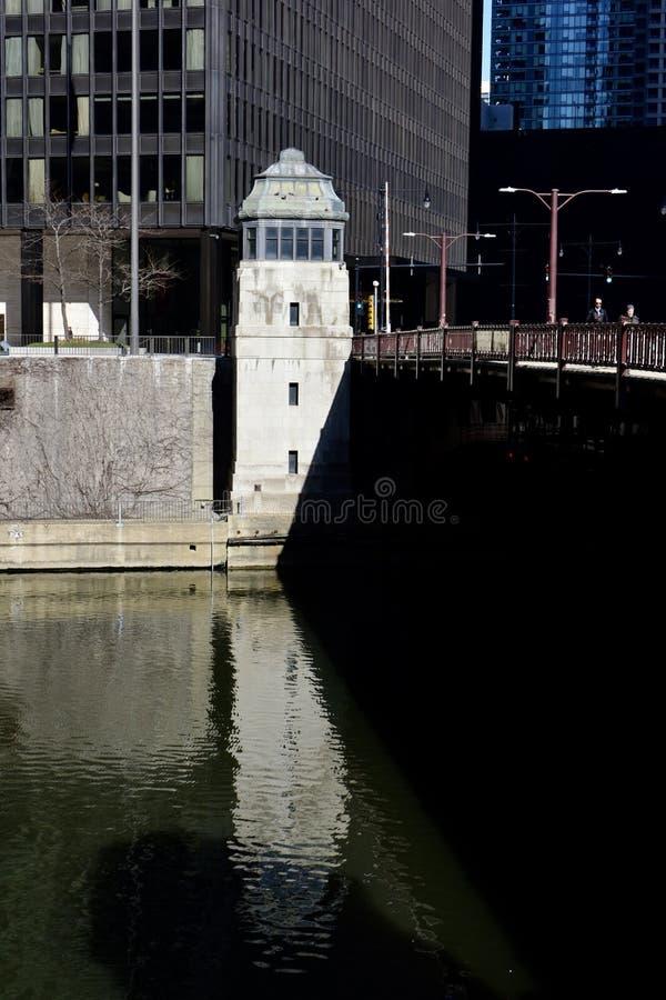 Дом управления по мостовой схеме бульвара Wabash стоковое изображение rf