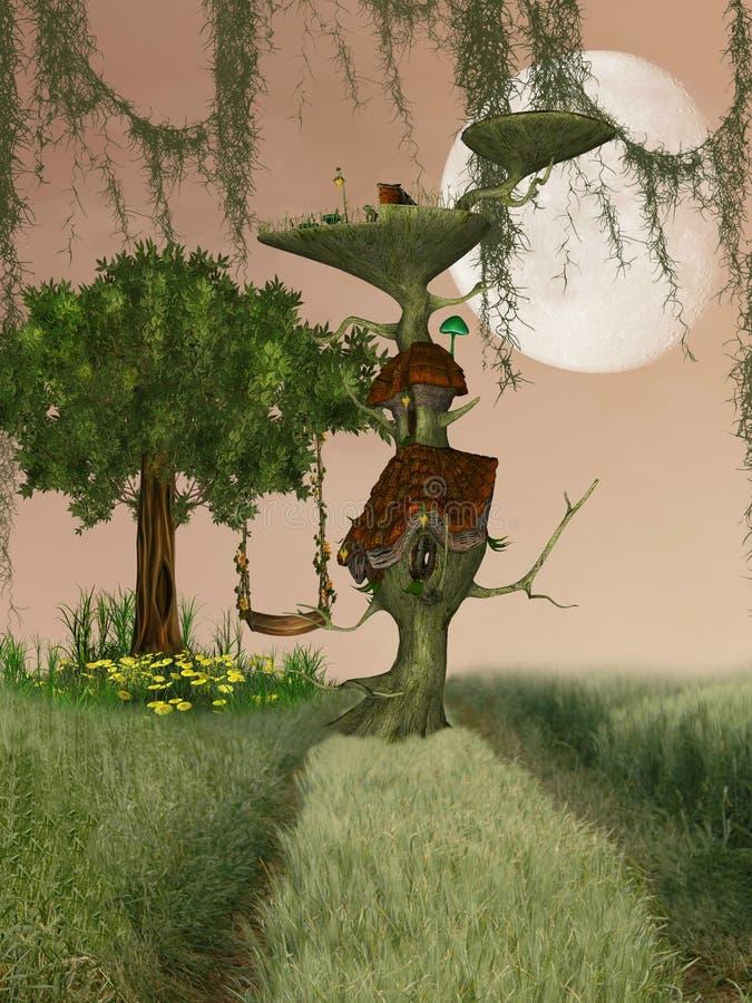 дом фантазии иллюстрация штока