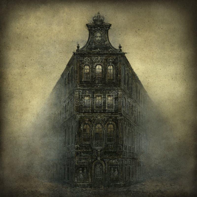 Дом фантазии Darlk иллюстрация штока