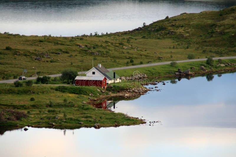 дом фьорда borg стоковое изображение