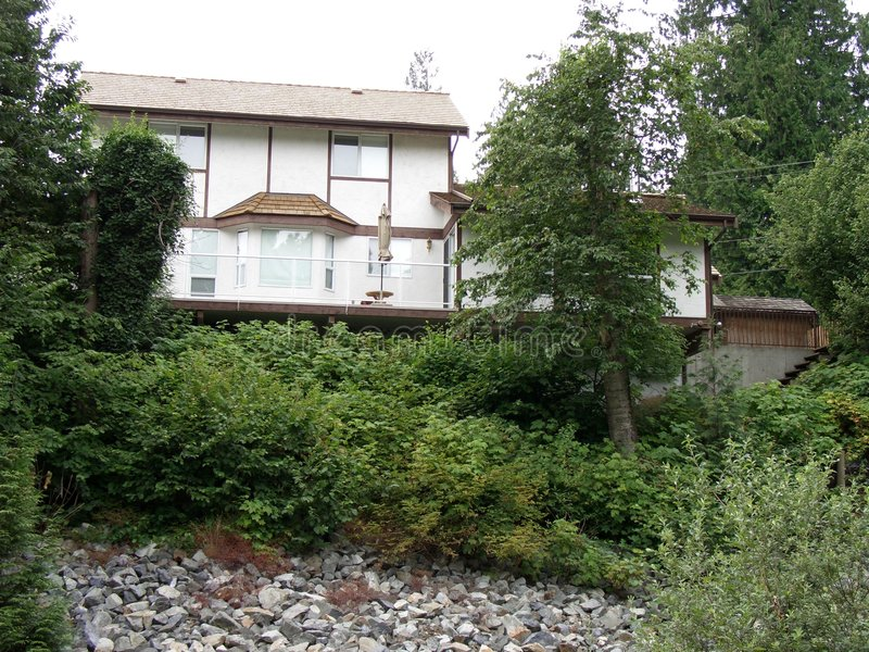дом холма стоковое изображение