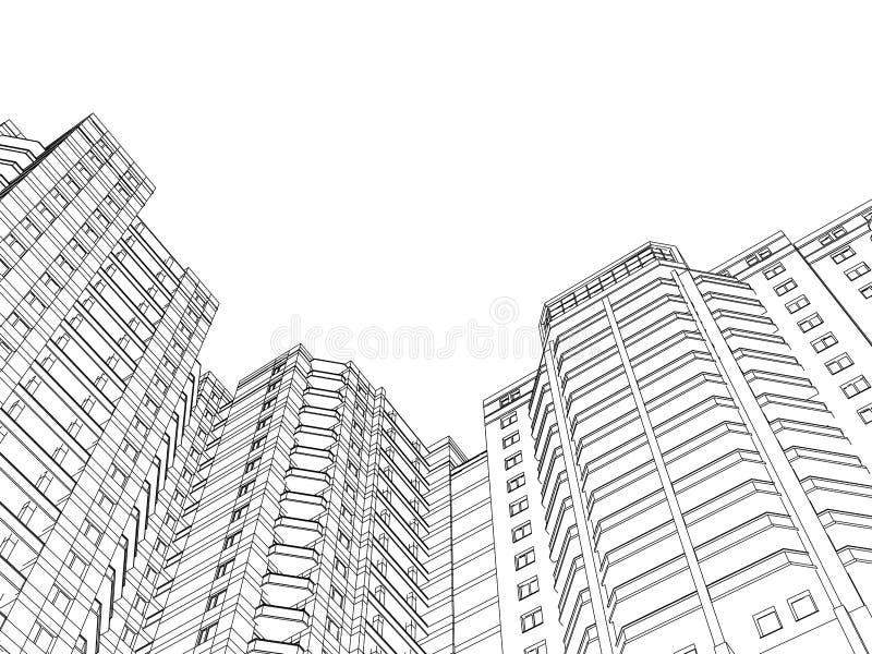 Дом цепи иллюстрация вектора
