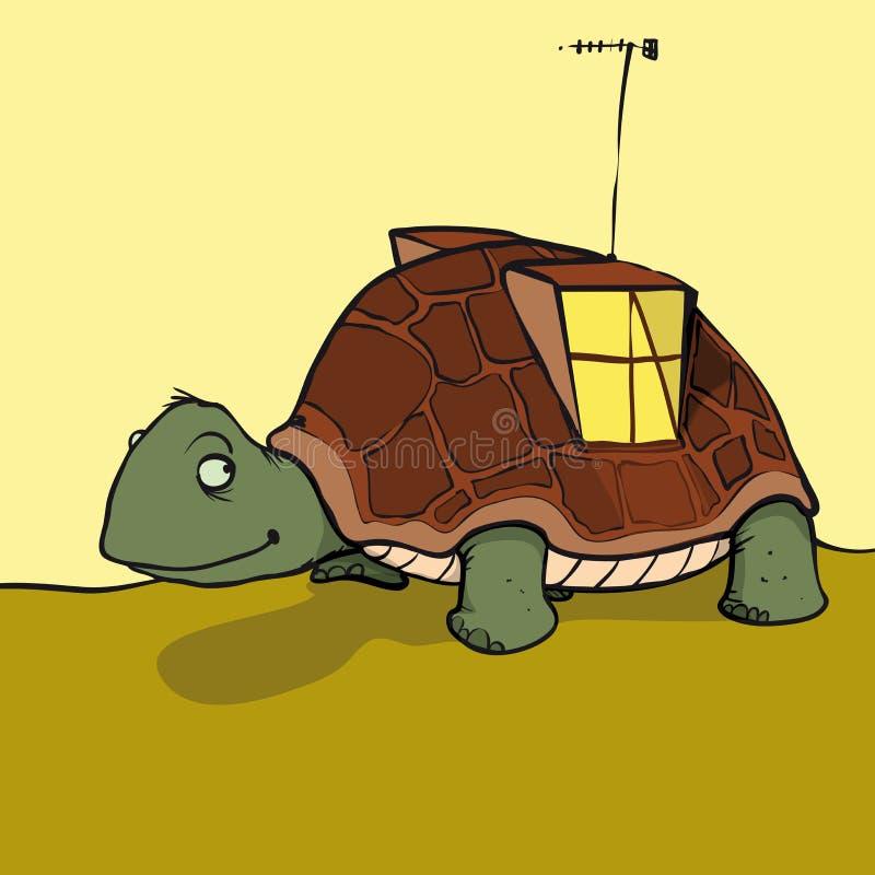 Дом черепахи иллюстрация вектора