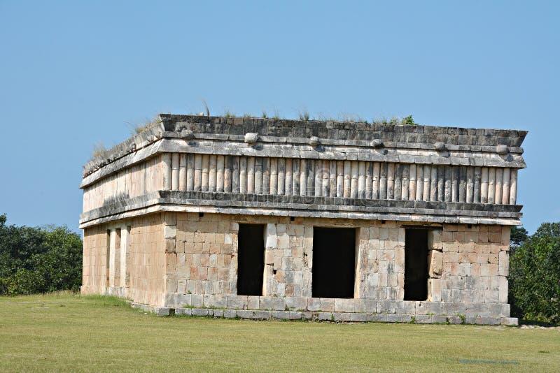 Дом черепах в старом майяском месте Uxmal, Мексике стоковая фотография