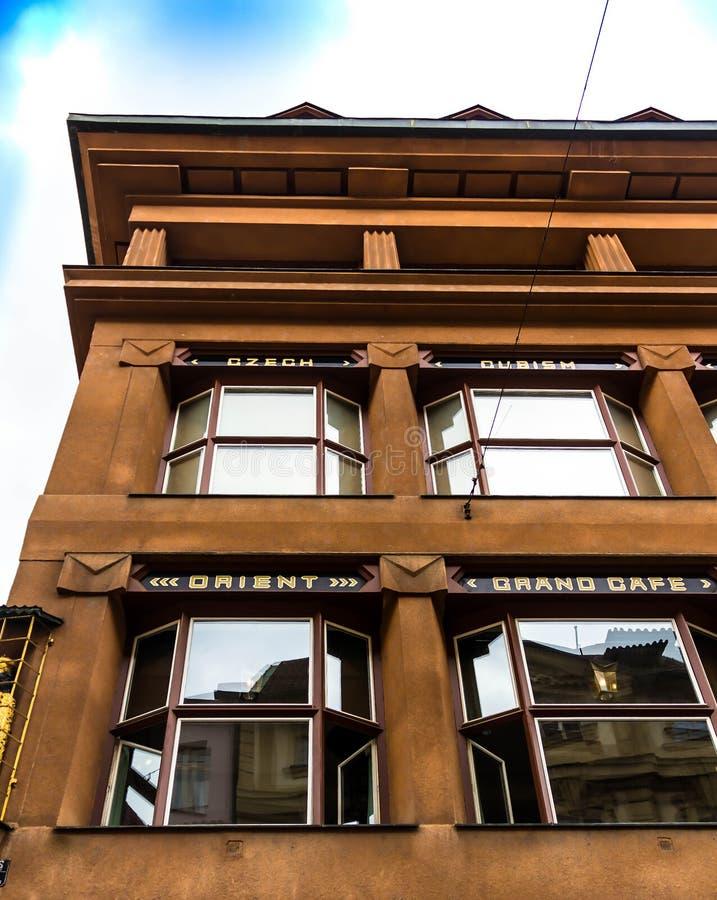 Дом черного Madonna деталь Прага, Чешская Республика стоковые фотографии rf