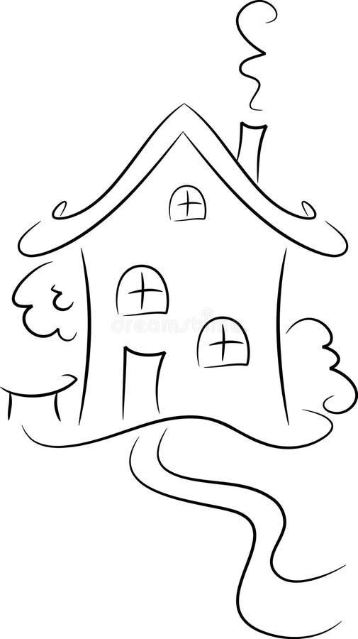 дом чертежа бесплатная иллюстрация