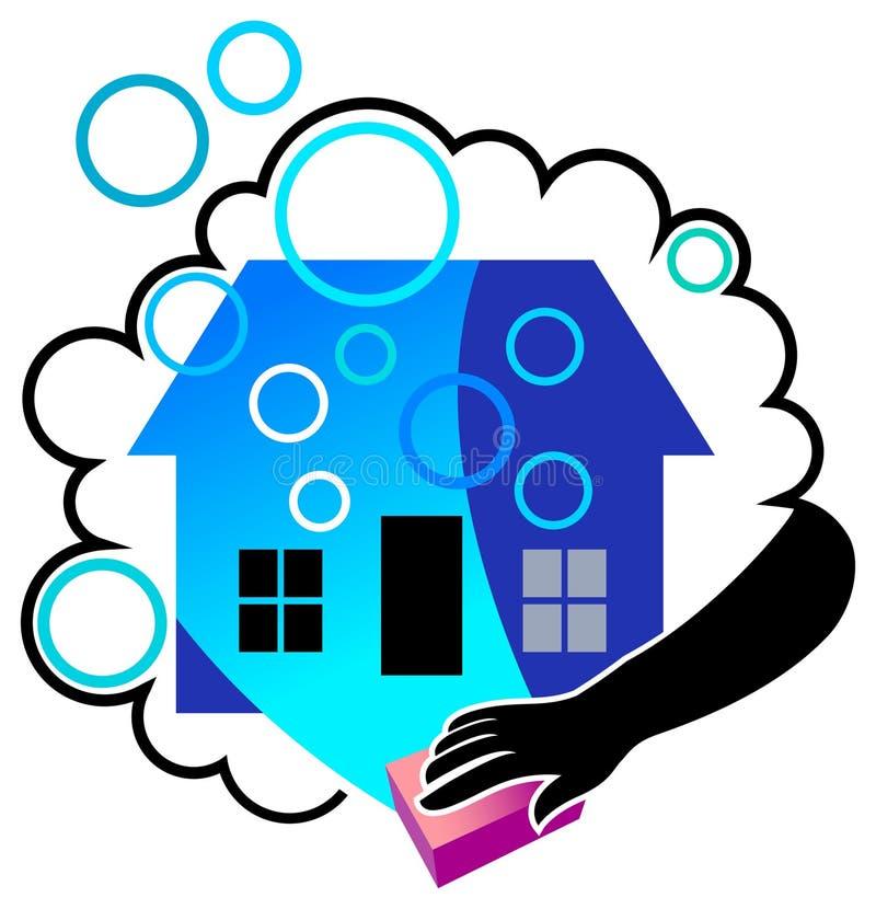 дом чистки иллюстрация вектора