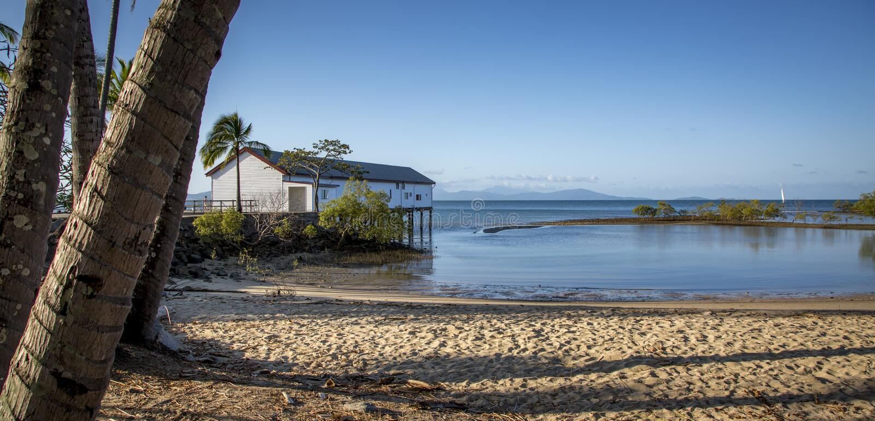 Дом шлюпки Port Douglas стоковые изображения rf