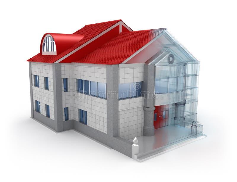 дом экстерьера конструкции иллюстрация вектора