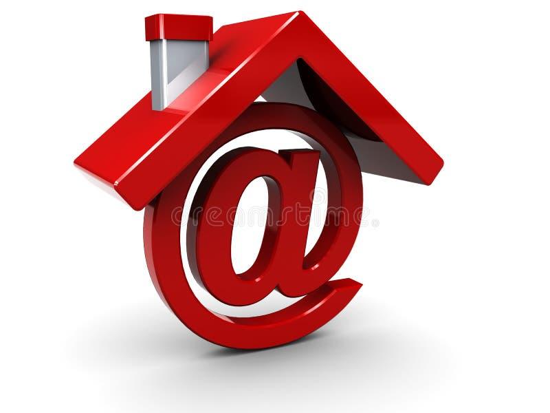 дом электронной почты иллюстрация вектора