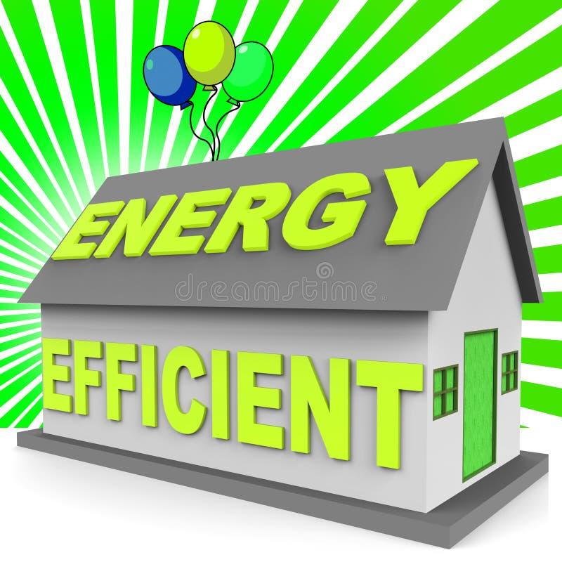 Дом энергии эффективный представляя перевод дома 3d иллюстрация штока
