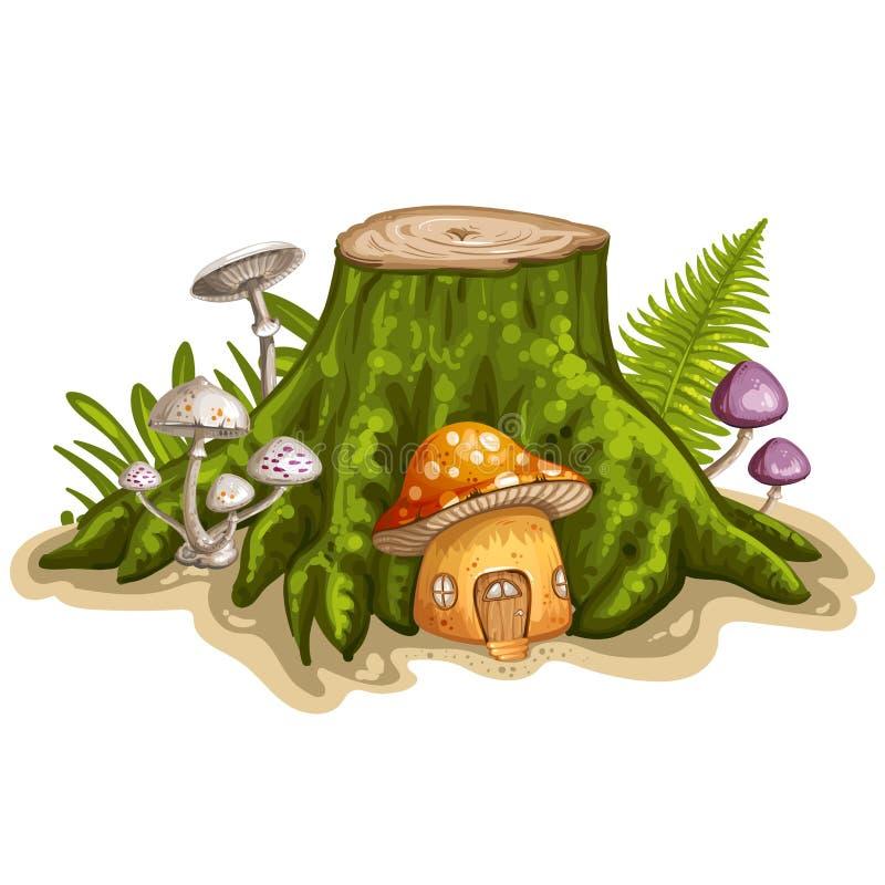 картинка гнома с грибами дизайн