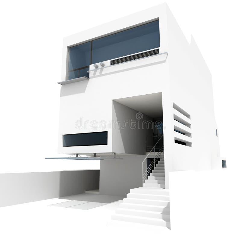дом 3d самомоднейшая иллюстрация штока