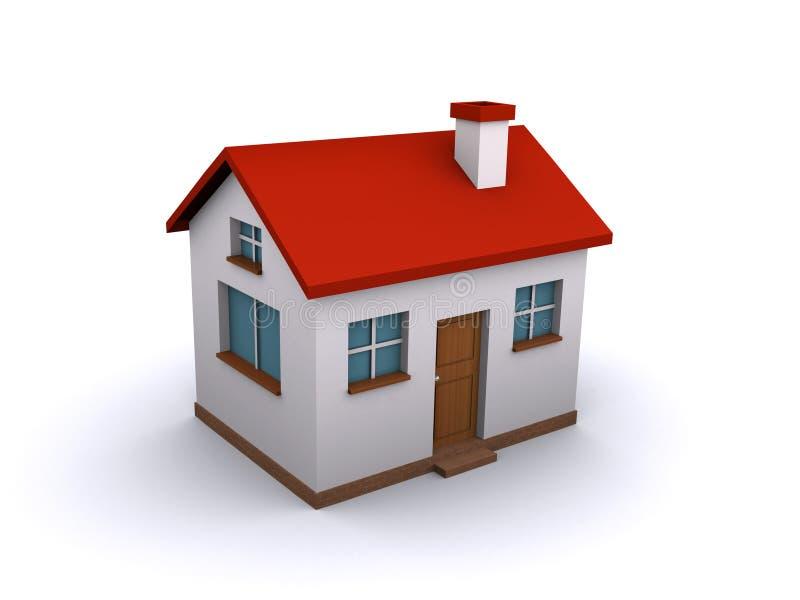 дом 3d иллюстрация вектора