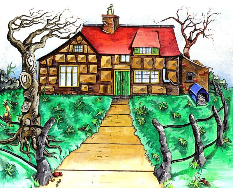 Download дом иллюстрация штока. иллюстрации насчитывающей средства - 79327