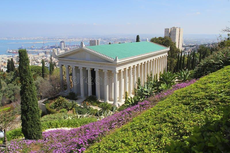 Дом abdul-Baha в саде Bahai в Хайфе, Израиле стоковое фото rf