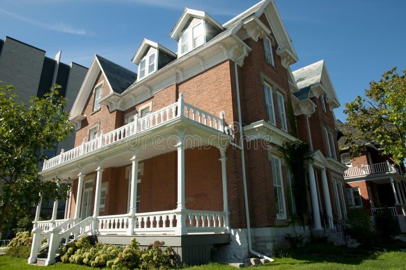 Дом Abramsky в университете ` s ферзя - Кингстоне - Канаде стоковые изображения rf