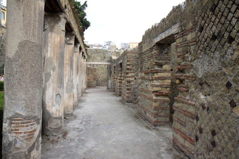 Дом Argus в старом римском Геркулануме, Италии стоковая фотография