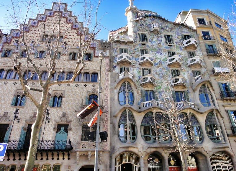 Дом Balyo, Каса Batllo в Барселоне стоковая фотография