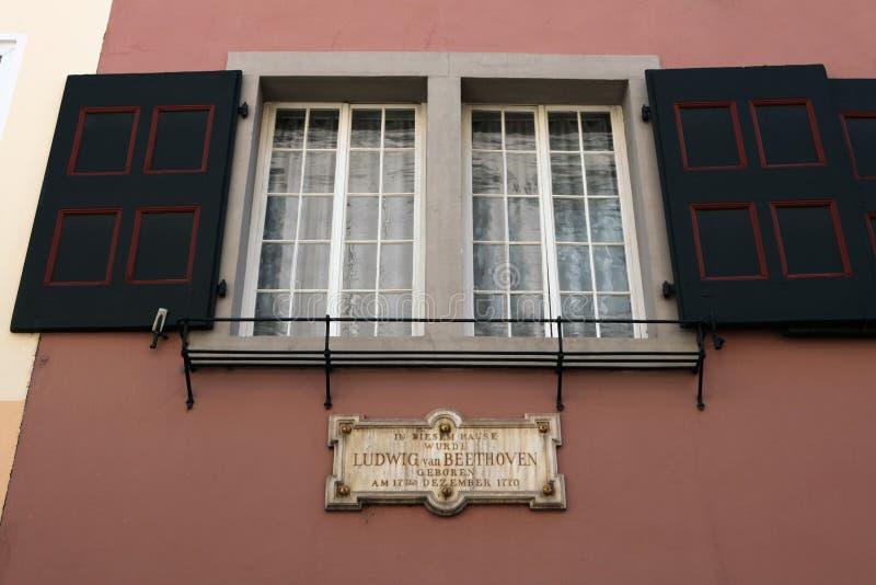Дом Beethoven в Бонне, Германии стоковая фотография