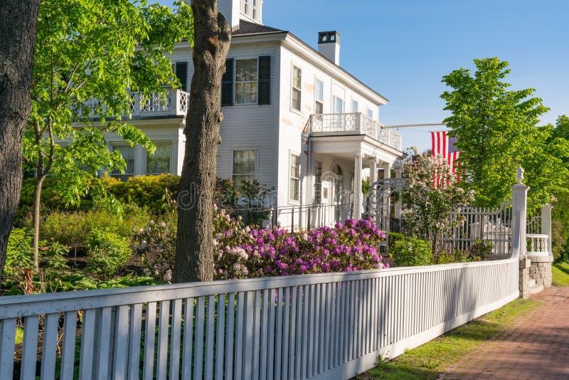 Дом Blaine в Augusta, Мейне стоковая фотография rf