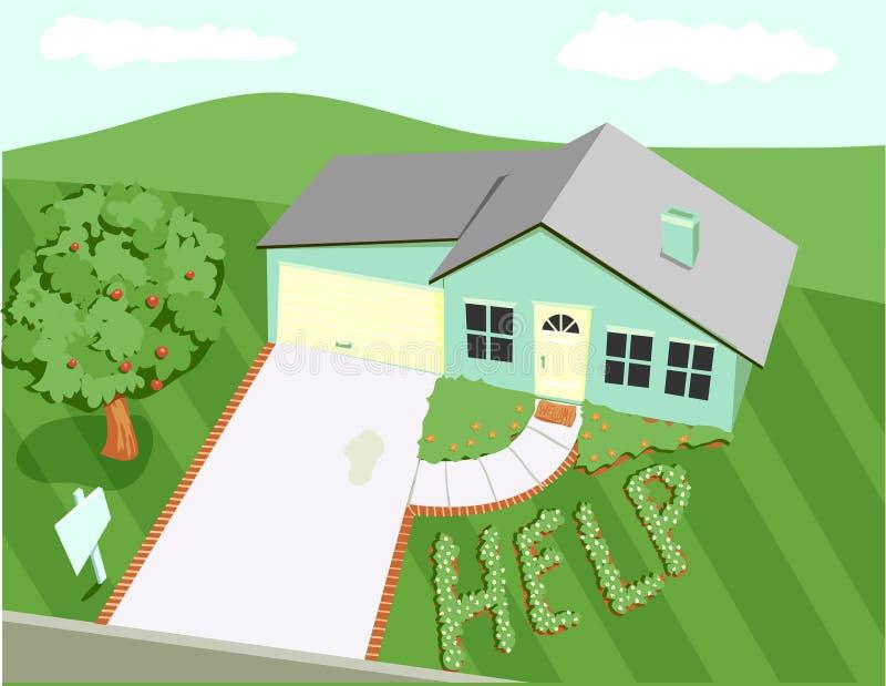 дом castaway иллюстрация штока