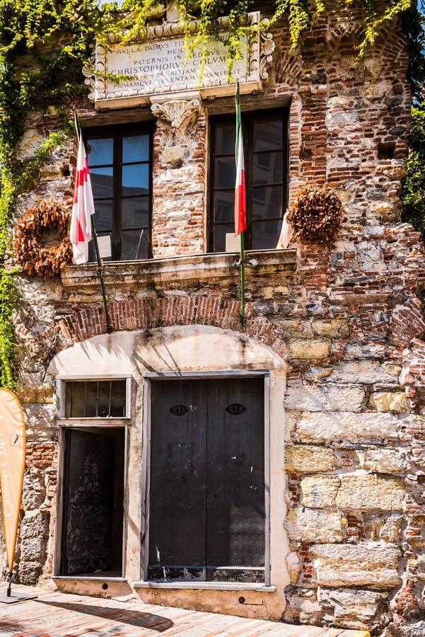 Дом Christopher Columbus, Генуи - di Христофора Колумба Касы, Genova, Италии, Европы стоковые изображения rf
