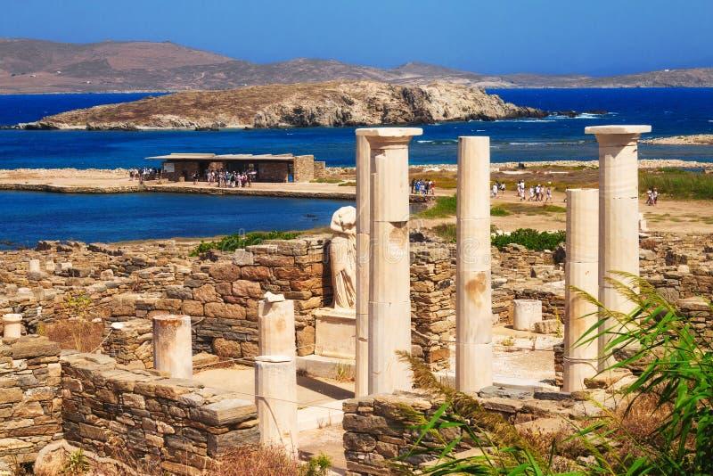 Дом Cleopatra, острова Delos стоковая фотография rf