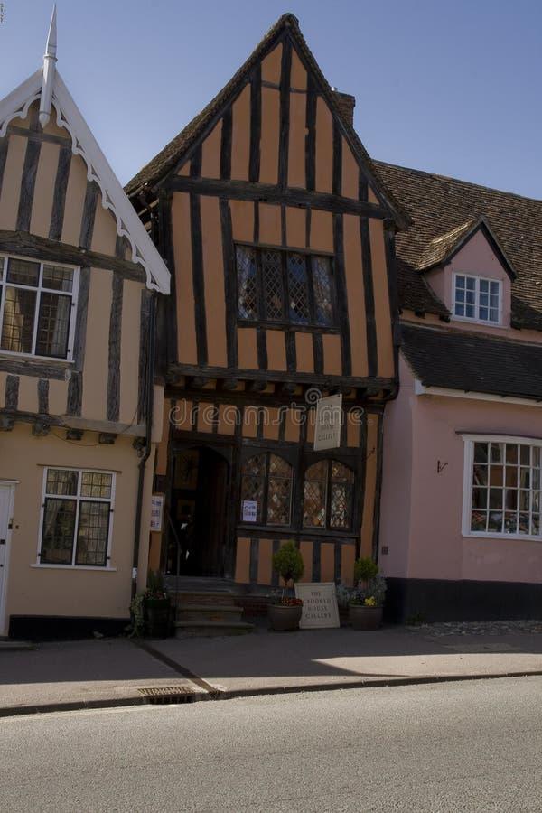 Дом Croked, суффольк Великобритания lavenham стоковые фото