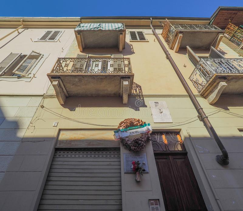 Дом Dante di Nanni в Турине стоковые фотографии rf