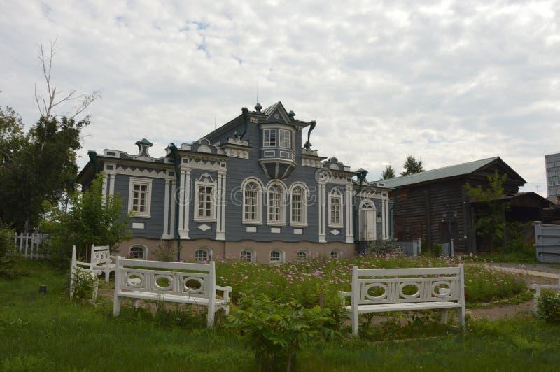 Дом decembrist в Иркутске стоковые фото