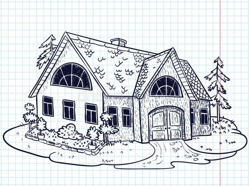 дом doodle иллюстрация штока