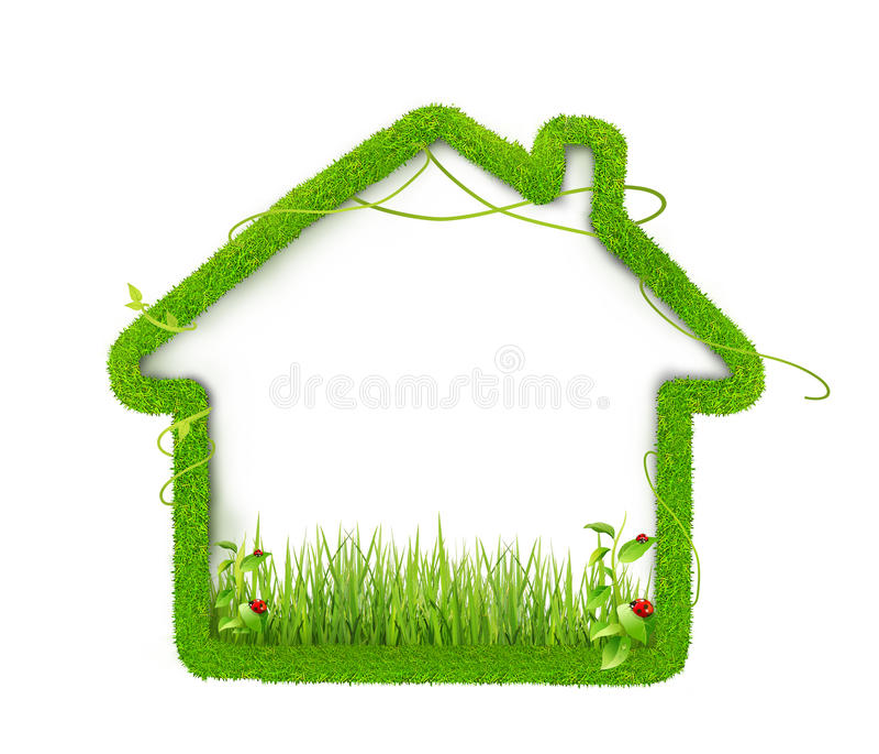 Дом Eco зеленый стоковые изображения