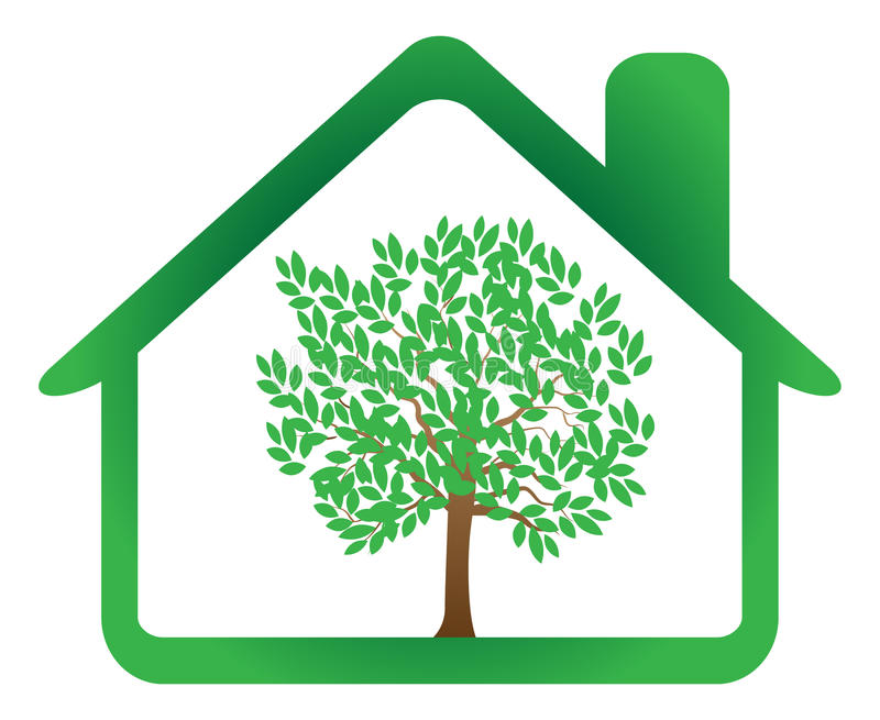 дом eco иллюстрация штока